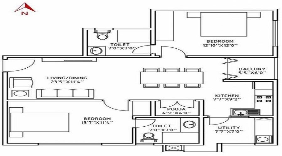 White Aspera Floor Plan