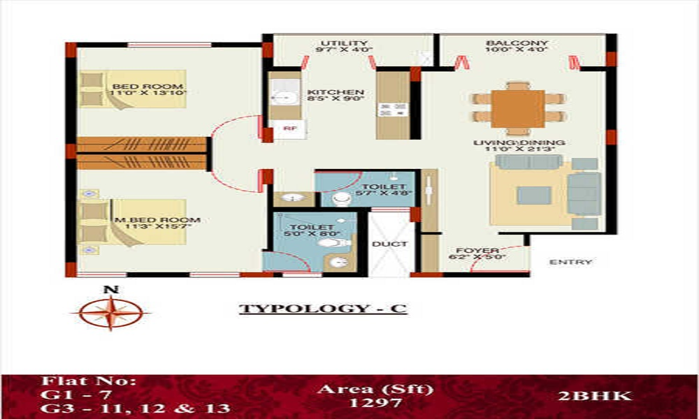 VKC Developers Chourasia Manor Phase 2 Floor Plan
