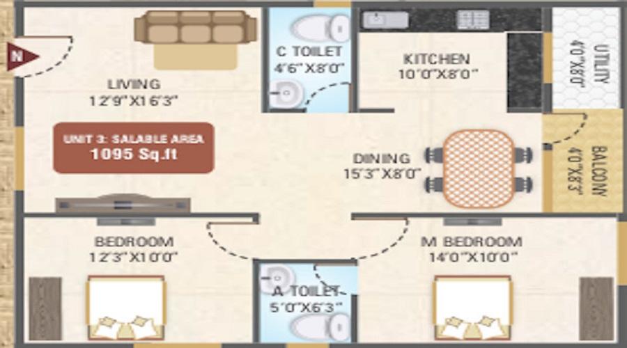 Saketh Duo Marvel Floor Plan