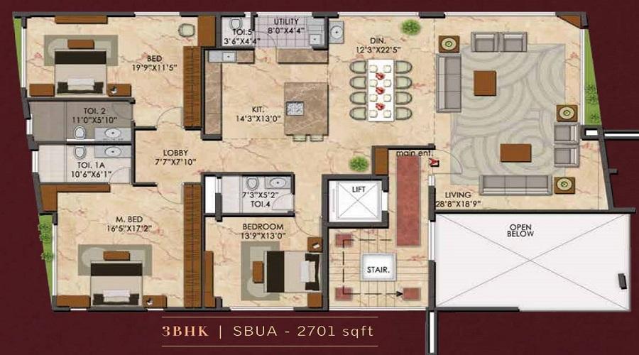 Upscale Floor Plan
