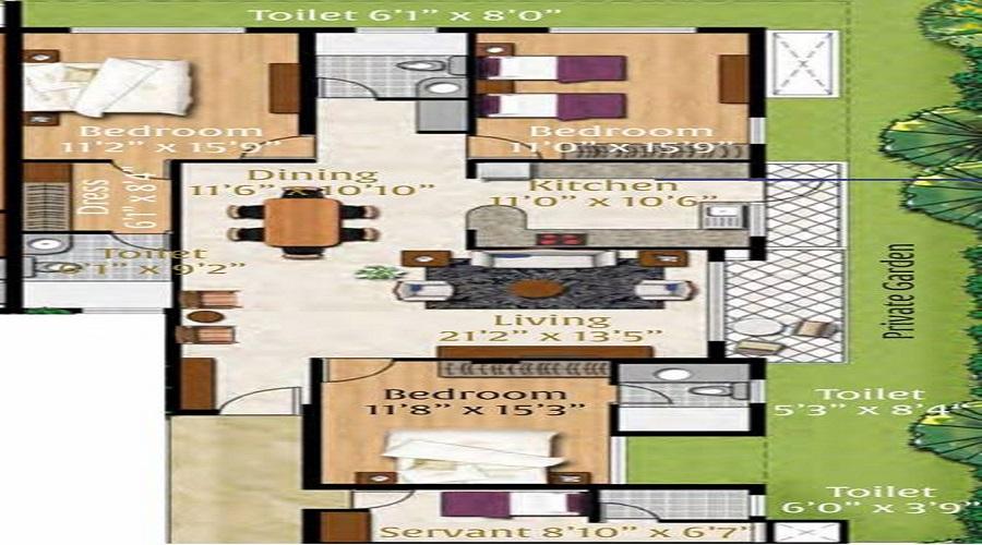 1410 The Residences Floor Plan
