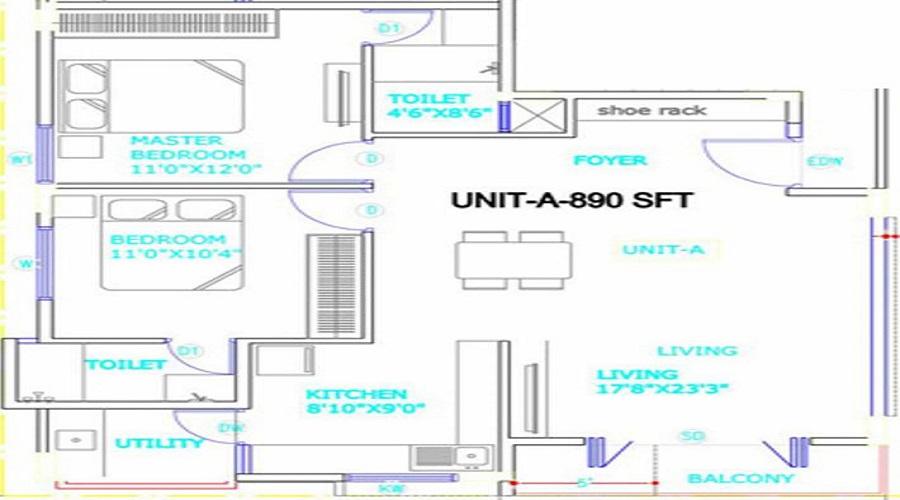 Dhanalaksmi Enclave Floor Plan