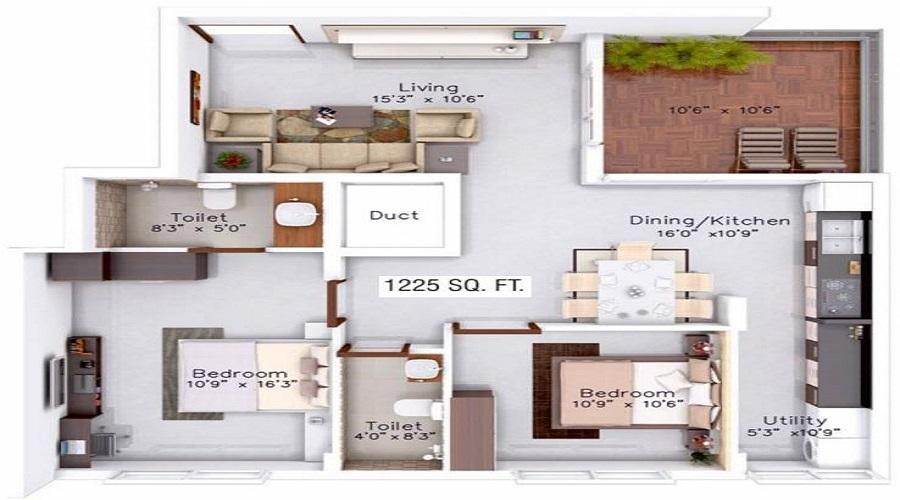 Classique Ebony Floor Plan