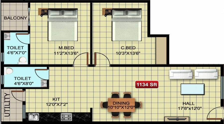 Anand Residency Floor Plan