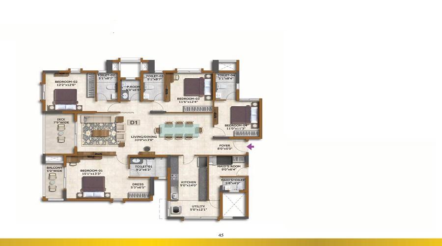 Prestige Avalon Park Floor Plan
