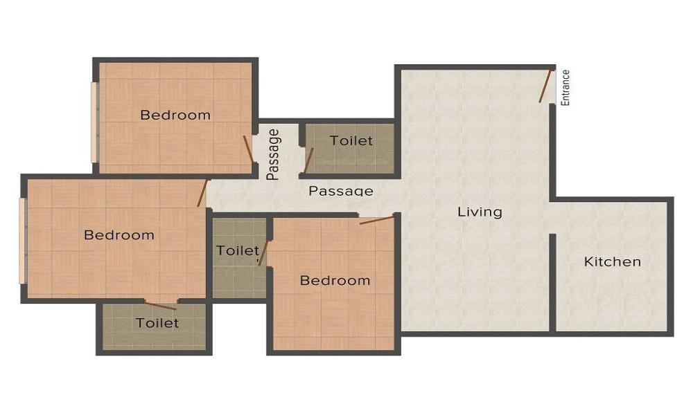 RG Residency Floor Plan