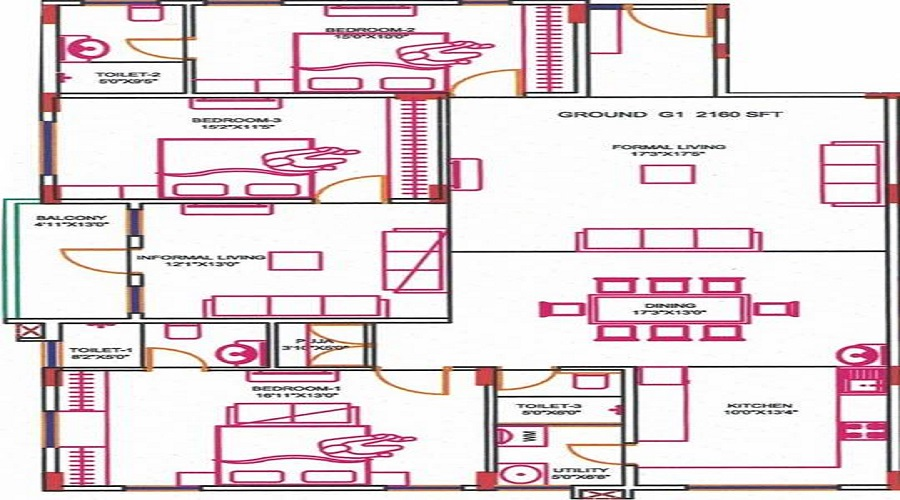 Ganapathyraja Vaishnavi Floor Plan
