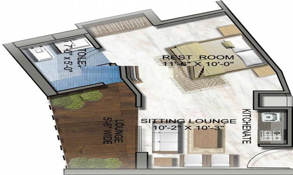 Supertech North Eye Floor Plan