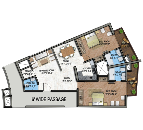Supertech North Eye Floor Plan