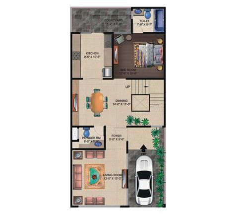 Supertech Czar Villas Floor Plan