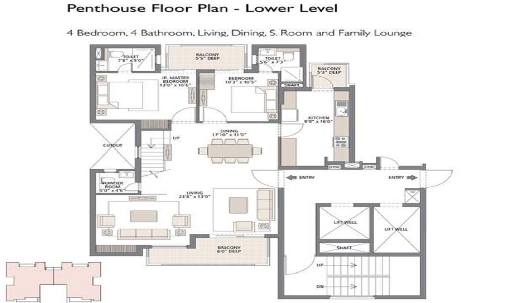 Emaar Mgf Ekaantam Floor Plan