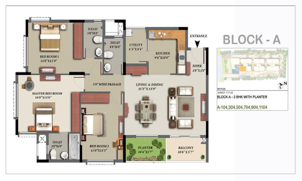 Kolte Patil Chiaro Floor Plan