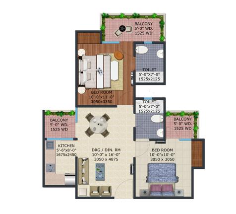Supertech Eco Village 4 Floor Plan