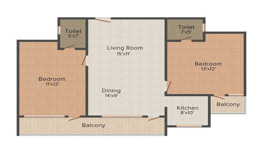 Colors Regalia Apartments Floor Plan