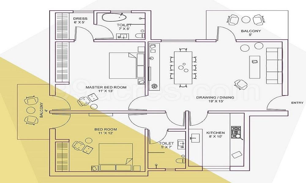 Kamp Crystal Residency Floor Plan