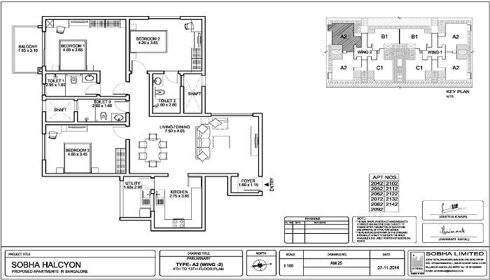 Sobha Halcyon Floor Plan