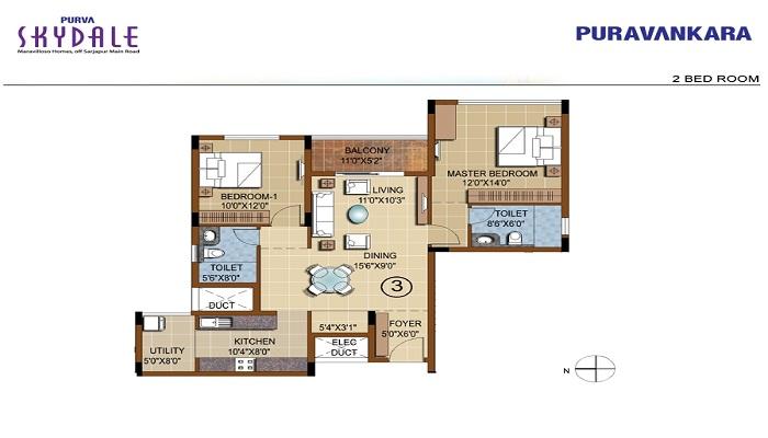 Puravankara Purva Skydale Floor Plan