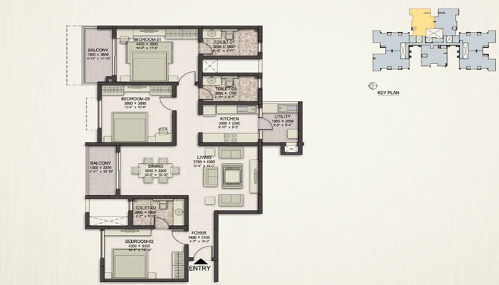 Sobha Eternia Floor Plan