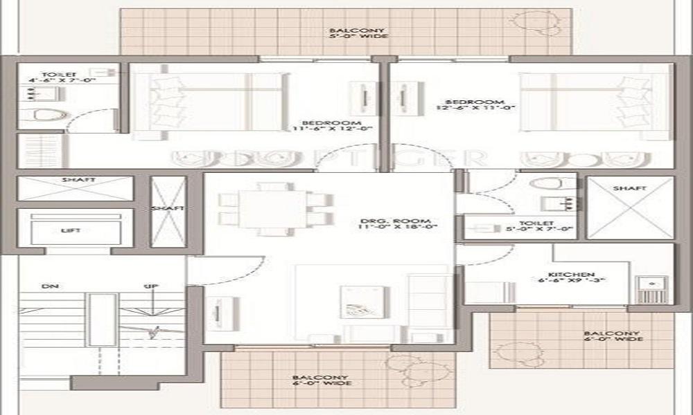 BPTP The Pedestal Floor Plan