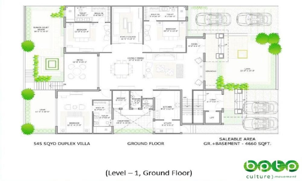 BPTP Visionnaire Luxe Villas Floor Plan