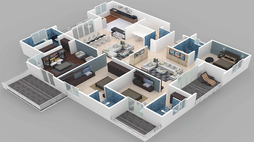 CGHS Prithvi Apartments Floor Plan
