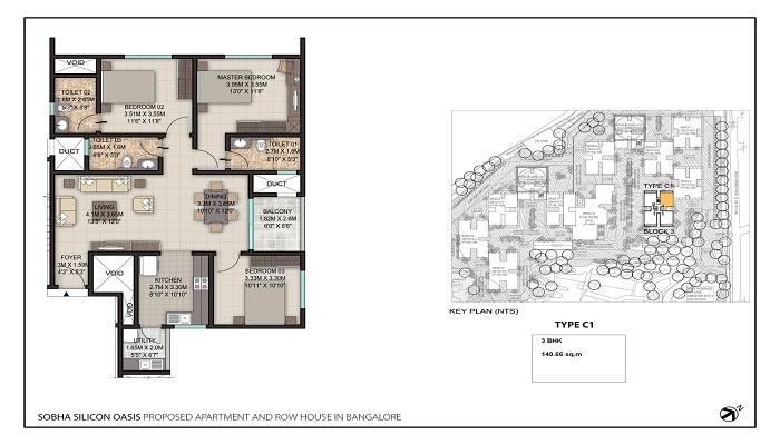 Sobha Silicon Oasis Floor Plan