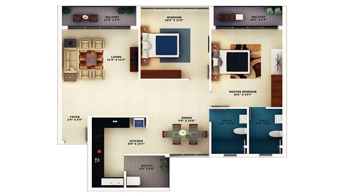 SJR Primecorp Mayfair Residences Floor Plan