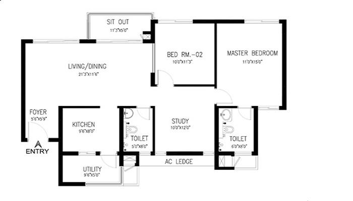 Assetz East Point Floor Plan