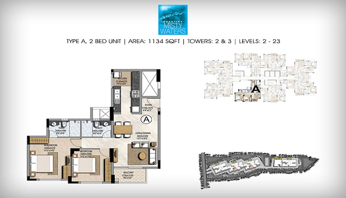 Prestige Misty Waters Floor Plan