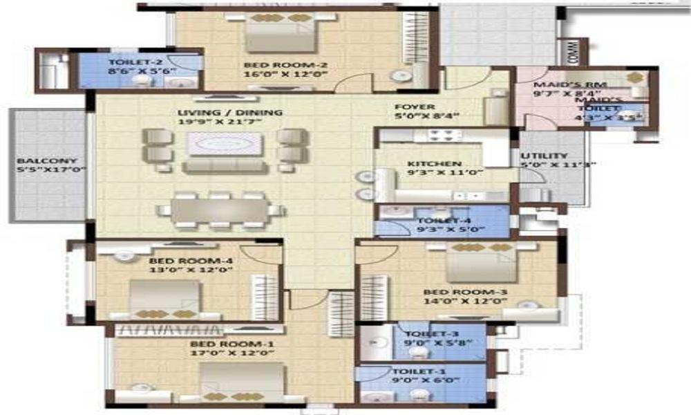 Puravankara Purva Whitehall Floor Plan