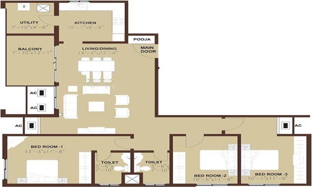 Arun Excello Estancia Floor Plan