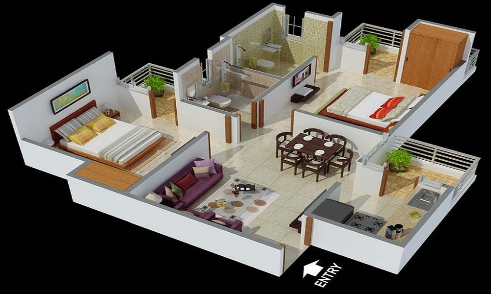 Arun Jai Hind Apartment Floor Plan