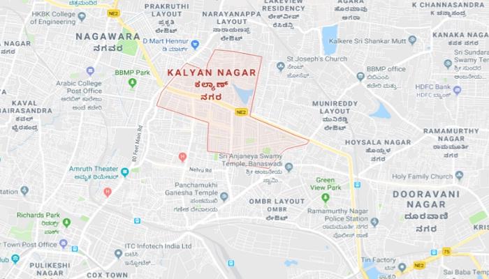 kalyan nagar bangalore map Kalyan Nagar Real Estate Kalyan Nagar Property Rates Bangalore kalyan nagar bangalore map